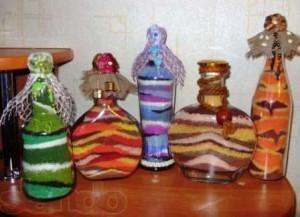 декоративные бутылки на кухню