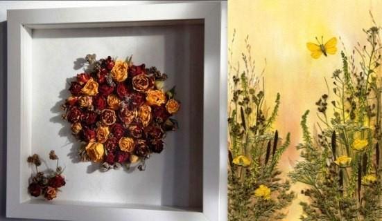 флористические картины или ошибана