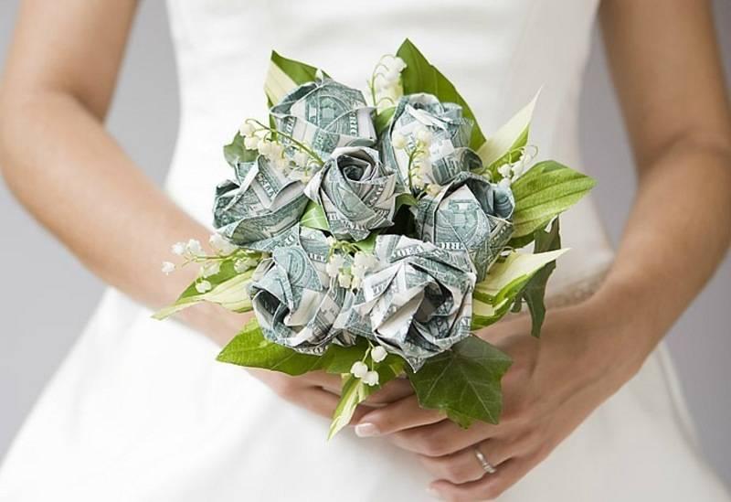 Бизнес без вложений для женщин - букеты из денег на свадьбу