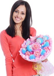 Красивый женский бизнес: букеты из мягких игрушек