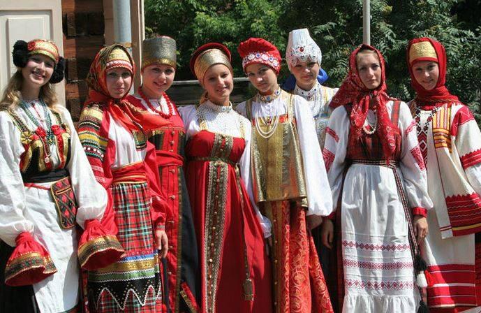 русская национальная одежда