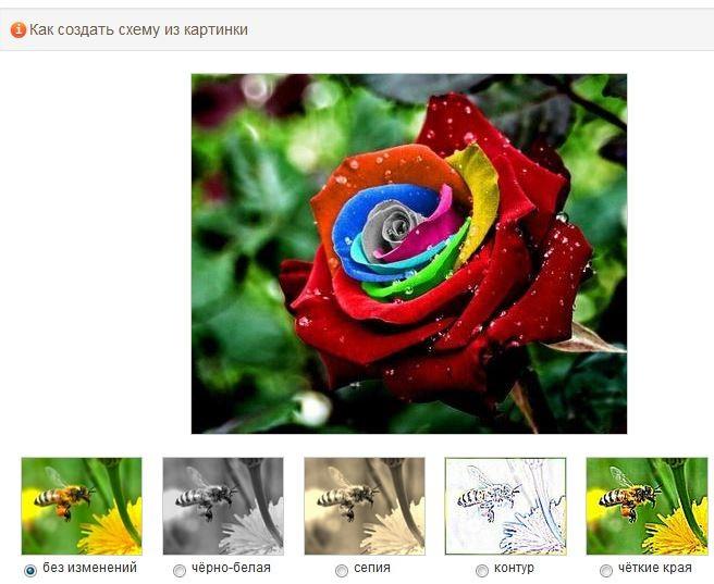 Как делать схемы для вышивки крестиком из фото