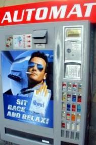 Продажа сигарет через автоматы