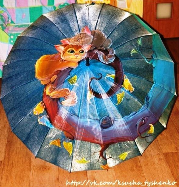 Ручная роспись зонтов