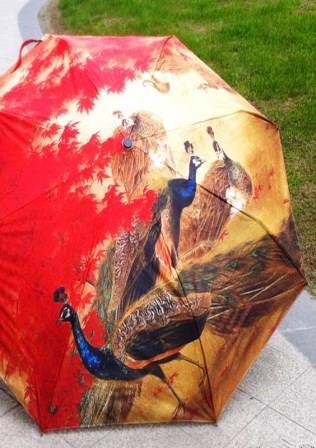 Художественная роспись зонтов - бизнес для творческих женщин