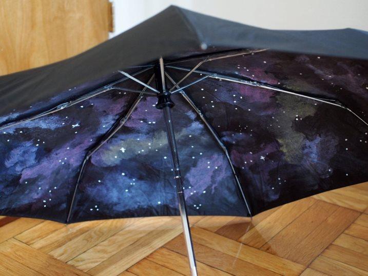 Зонт, раскрашенный изнутри