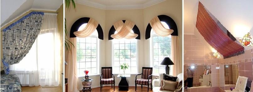 Нестандартные шторы фото