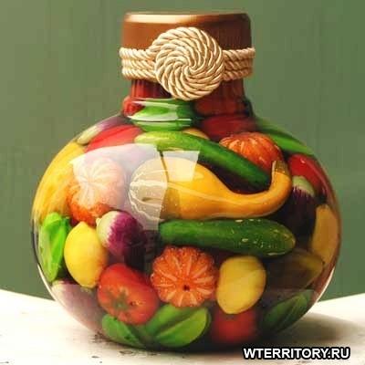 Декоративные бутылки для кухни своими руками мастер класс
