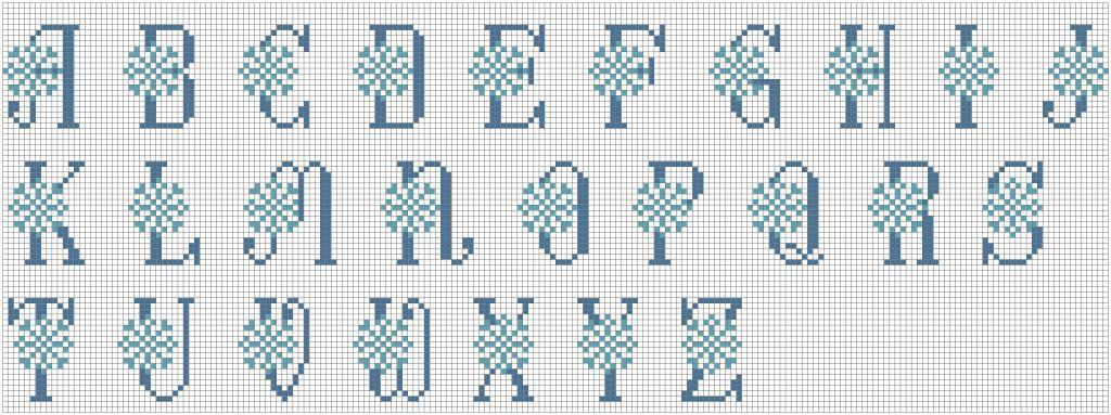 Как правильно делать буквы бэкстичем в вышивке.