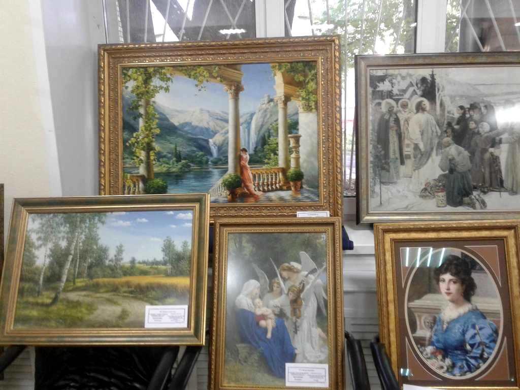 Продажа очень больших вышитых крестом картин.