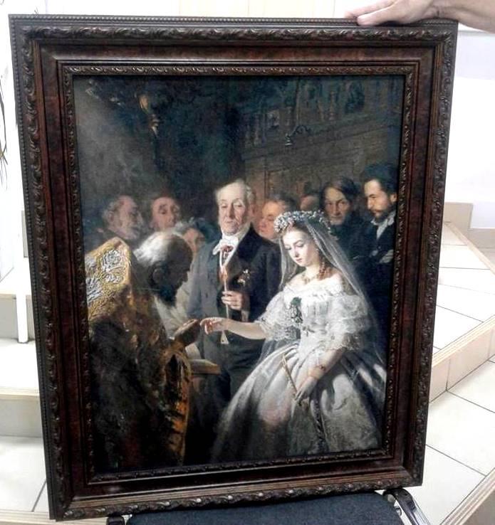 Продажа вышитых картин крестом без оформления.